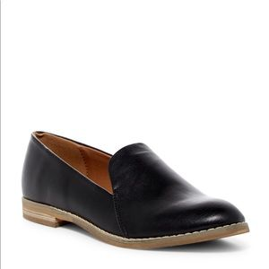 indigo rd Irhani Faux Black Leather Loafers